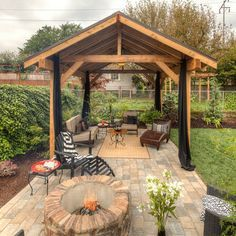 Covered Patio Ideas With Fire Pit