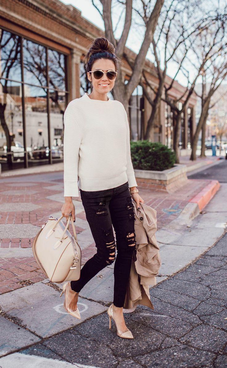 Hello Fashion Blog   The Clove Sweater + The Middi Ankle in Darkest night