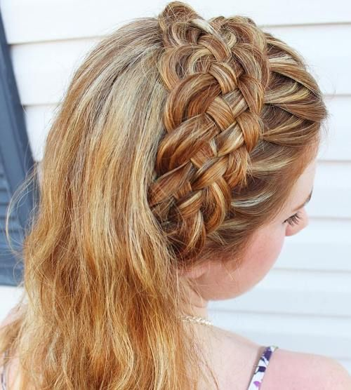 basket+weave+headband+braid