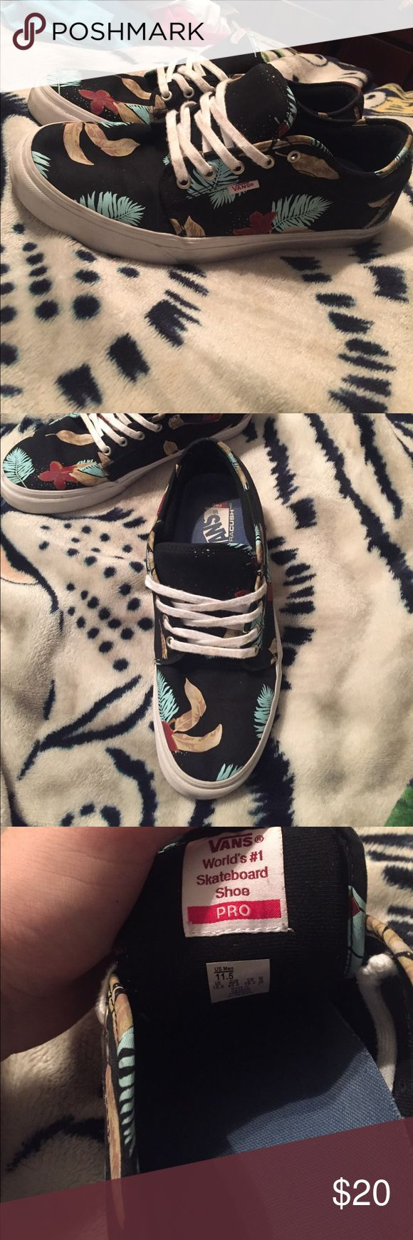 Vans Chukka Low Hawiian Black Size 11.5 I've had these for almost 2 years and I've worn them maybe twice. Immaculate condition and laced up well. Vans Shoes Sneakers