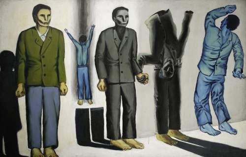 Andrzej Wróblewski | Rozstrzelanie, Surrealist Execution, 1949