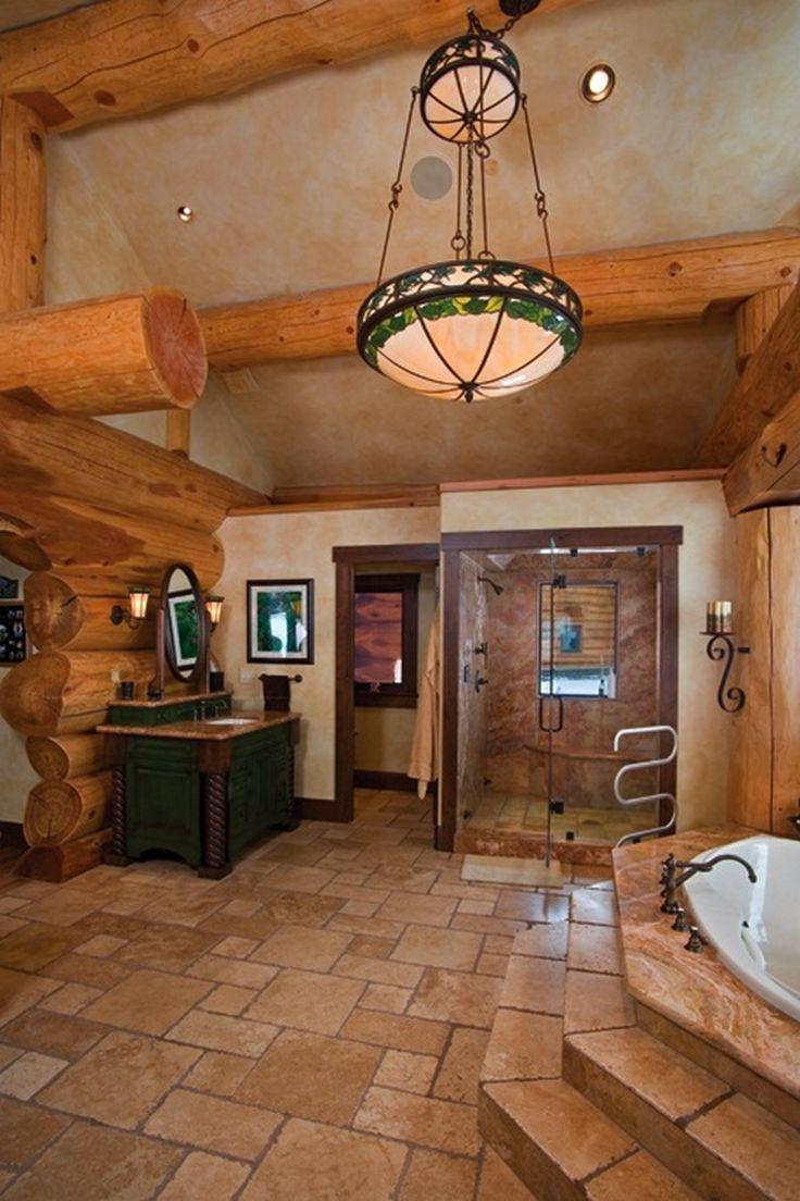 Amazing Log Home - Master Bath on The Owner-Builder Network  http://theownerbuildernetwork.com.au/wp-content/blogs.dir/1/files/amazing-log-home-amazing-log-home-1/MasterBath-tree-house.jpg