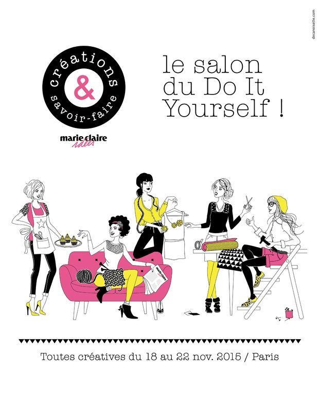 MaPetiteCamelotte a gagné son invitation Salon Création & Savoir-Faire 2015 grâce à ezebee.com. Voici ses découvertes !