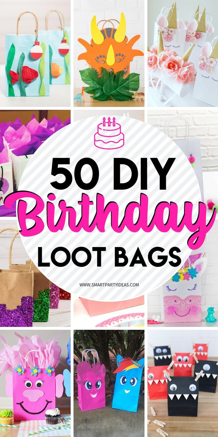 50 Diy Birthday Party Favor Gift Bags Diy Party Bags Birthday