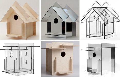 Crafty Modernist Birdhouses Sing Mid-Century Melodies