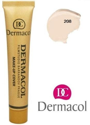Dermacol Cover Make-up Foundation Shade 208  $15.99 LEGENDARY HIGH COVERING FOUNDATION  #dermacol #covermakeup #coverfoundation
