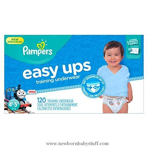 Baby Boy Clothes Pampers Easy Ups Disposable Training Underwear Boys 4T-5T (Size 6), 120 Count (One Month Supply)