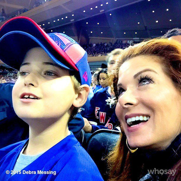Pin for Later: Kourtney, Tori, and Ivanka Shared Some Cute Kiddo Snaps This Week!  Looks like Debra Messing and Roman had a great time supporting the Rangers in their playoff game at Madison Square Garden!