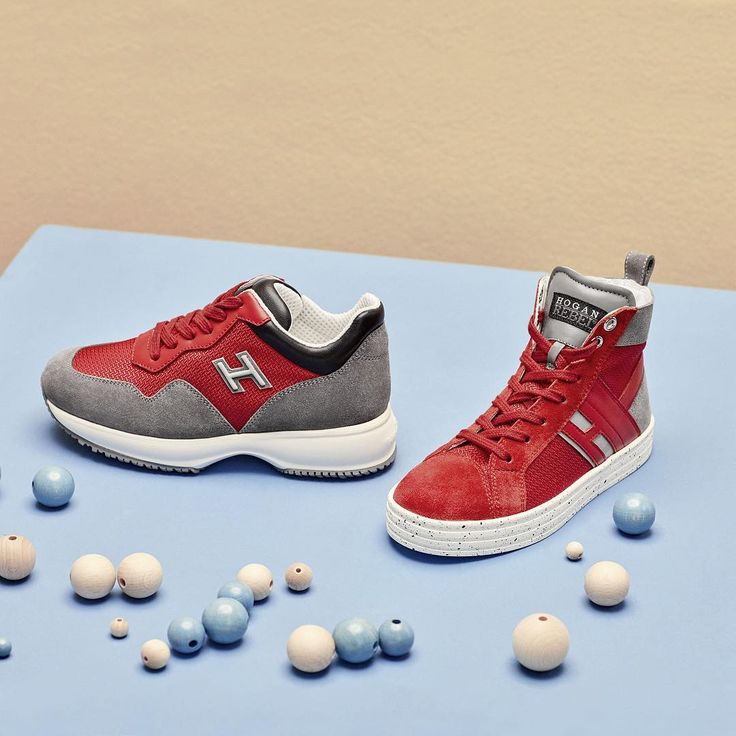 The #HoganJunior #Interactive and #R141 #sneakers to get them off to the right start