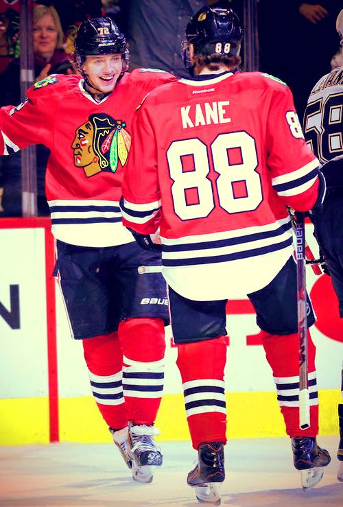 Artemi Panarin and Patrick Kane Chicago Blackhawks