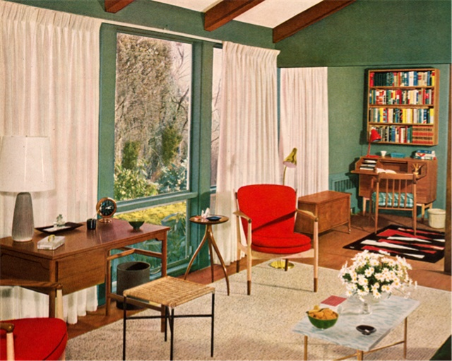 257 best Mid-Century Rooms images on Pinterest | Vintage interiors ...