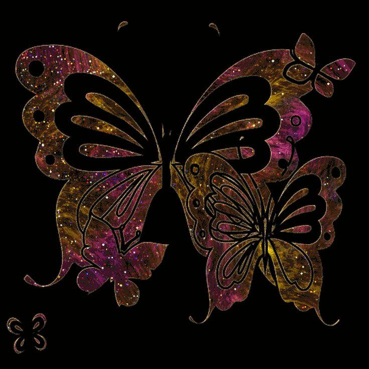 Открытки блестящие бабочки, цветами колокольчики цветочная