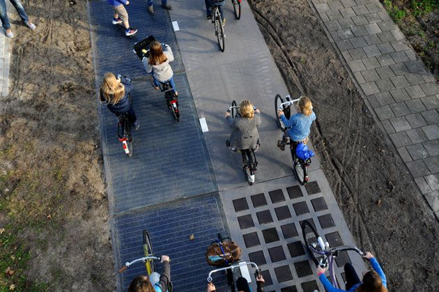 The first solar bike path is producing more energy than expected [The Future of Energy: http://futuristicnews.com/category/future-energy/ Solar Panels: http://futuristicshop.com/category/alternative_energy/]