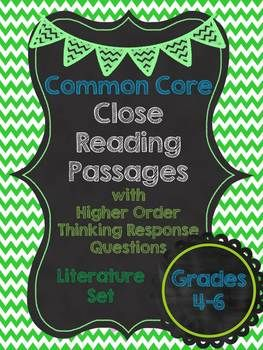 CCSS Close reading passages for grades 4-6. Lexile levels 800 to 1060. $