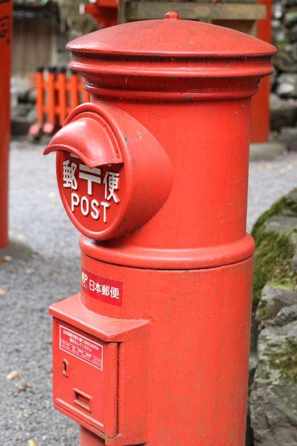 Japanese old mailbox, Kifune, Kyoto