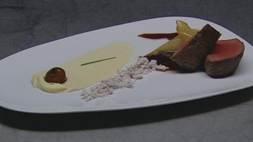 Venison, Parsnip Puree, Fennel with Citrus Onion Jus and Chocolate Crumb | MasterChef Australia #MasterChefRecipes