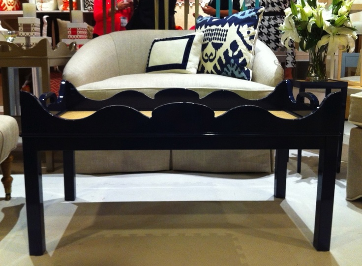 Navy Lacquer Coffee Table - LOVE