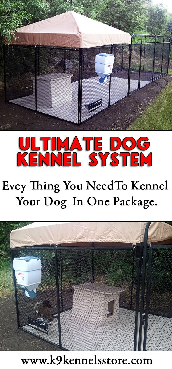 The Ultimate Dog Kennel System is the top pf the line kenneling system. With everything in one package to get your dog into a comfortable and healthy environment. Take a look at our full line of Ultimate Kennel systems.