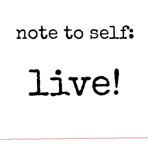 Sometimes life runs you over… Breathe and take back the control: LIVE!