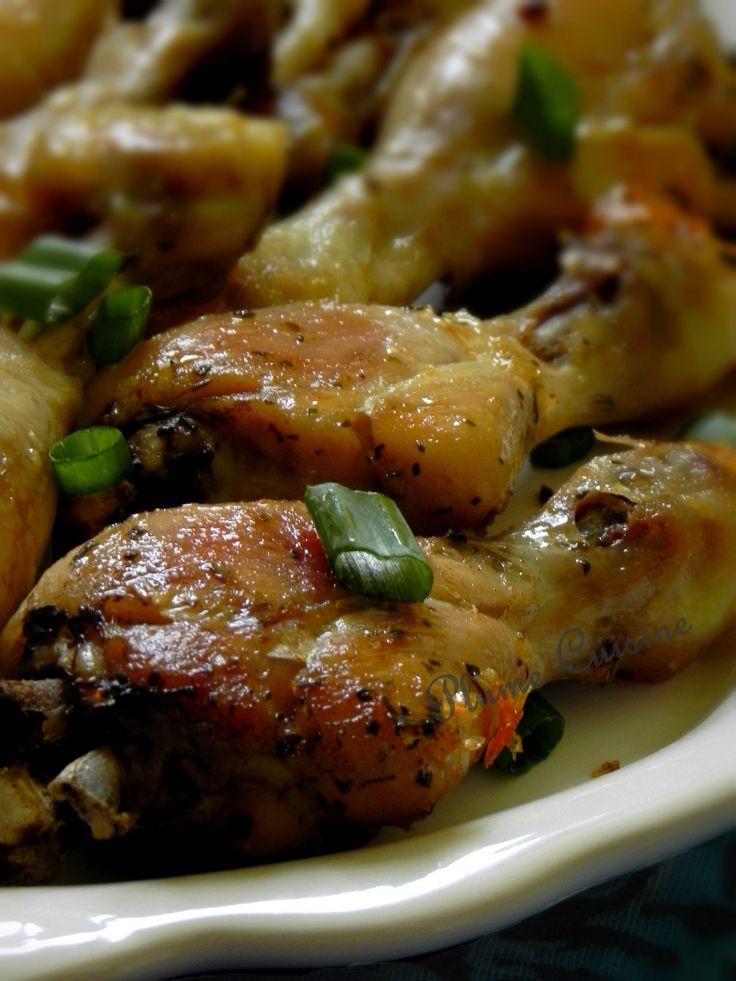 Pilons et cuisses de poulet au four - Une façon simple et savoureuse de cuire son poulet sans qu'il ne soit sec, mais bien tendre et croustillant à la fois!