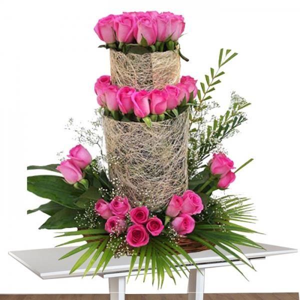 Appealing Charm 75 Pink Roses Flowers Arranjos De Flores Arranjos De Mesa Arranjos