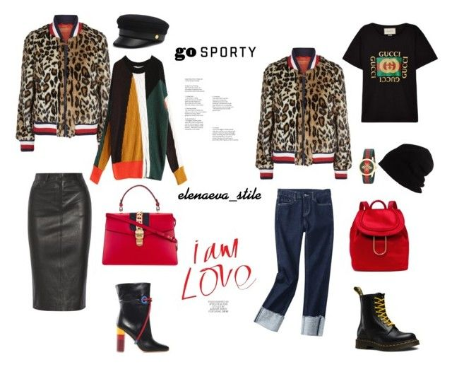 """""""Gucci by Sport Style"""" by elufimova-elena on Polyvore featuring Hilfiger Collection, Henri Bendel, Malone Souliers, Gucci, Dr. Martens, Diane Von Furstenberg, SCHA, StreetStyle и fashionset"""