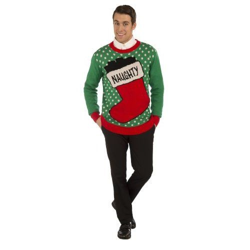 Funny Christmas Mug-- Christmas Sweater-- Ugly Christmas Sweater!!-- Christmas Costume-- Choose Your Style!! (Xlarge, Naughty)