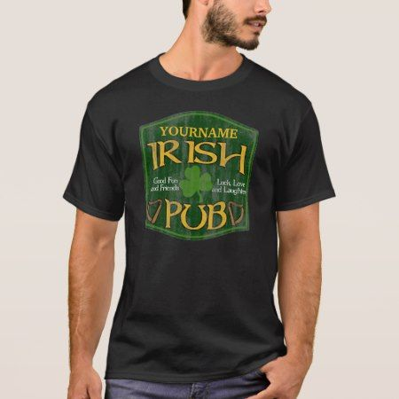 Personalized Irish Pub St Patrick's Day Shirts - tap, personalize, buy right now!