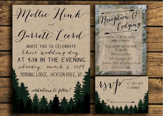 Woodland Wedding Invitation Suite by twinklepress