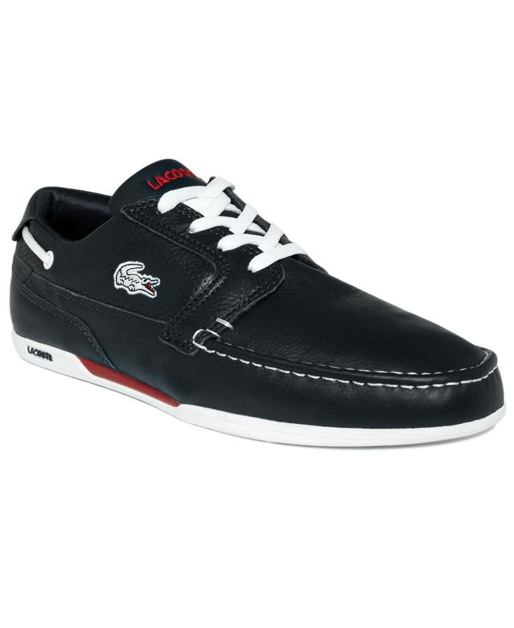 Cute for him...Lacoste Shoes, Dreyfus Leather Boat Shoes