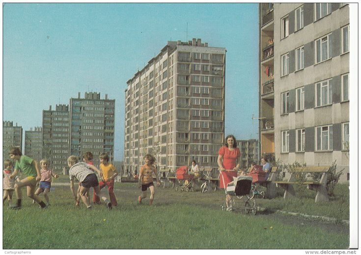Gliwice Children Playing Football, Baby Carts, Women - Poland