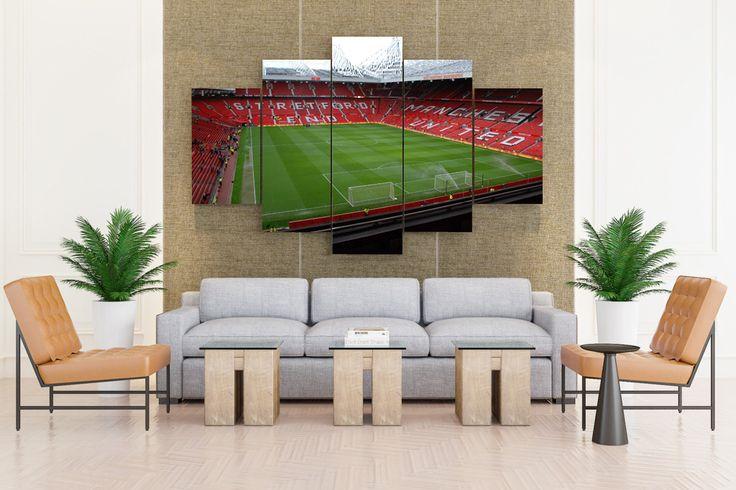 Fields stadium manchester united fc manchester - 5 piece Canvas