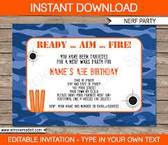 Image result for nerf party invitations template free