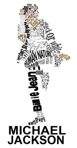 Michael-Jackson-Typography-Portrait-314x600 - Click image to find more hot Pinterest pins