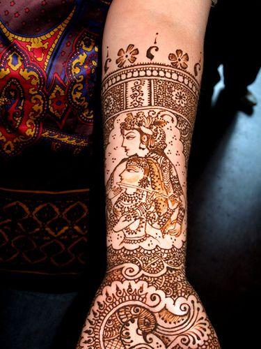 Radha - Krishna mehendi design