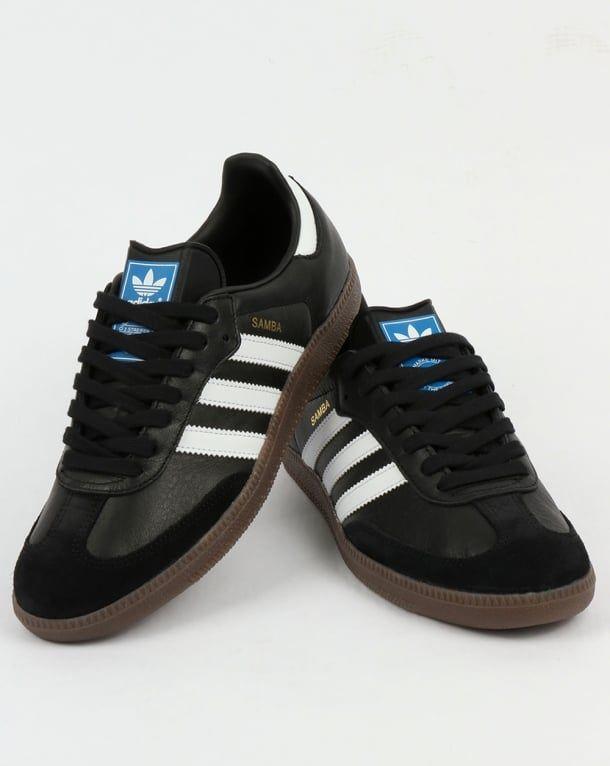 Adidas Samba OG Trainers BlackWhiteGum,shoes,leather,mens