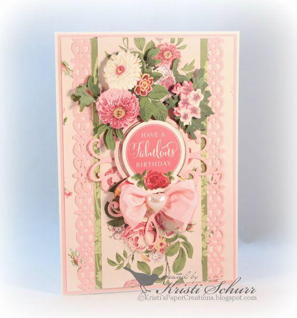 Cottage Rose Birthday Card