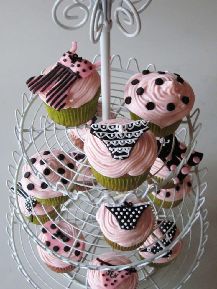 Darlin' Designs: Lingerie Shower cupcakes