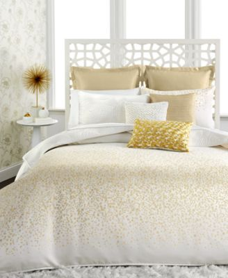 Inc International Concepts Prosecco Comforter And Duvet Cover Sets White And Gold
