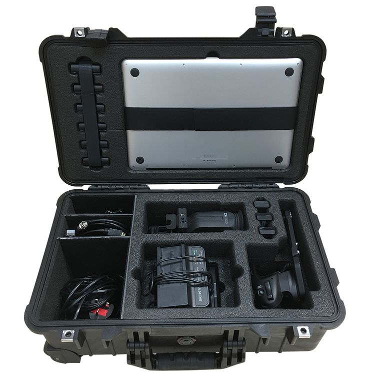 "Foam Insert Case 1 For Sony PMW-FS7 Accessories and Apple 15"" MacBook Pro To Fit Peli 1510. Created using LD18 foam density, part of a 2 case set."
