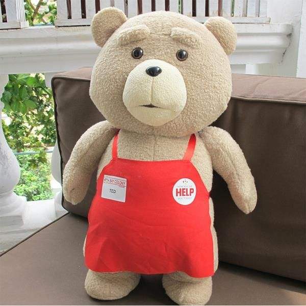 $4.37 (Buy here: https://alitems.com/g/1e8d114494ebda23ff8b16525dc3e8/?i=5&ulp=https%3A%2F%2Fwww.aliexpress.com%2Fitem%2F2016-New-Teddy-Bear-Ted-2-Plush-Toys-In-Apron-bowknot-Large-Size-Big-Huge-48CM%2F32600944516.html ) 2016 New Teddy Bear Ted 2 Plush Toys In Apron bowknot Large Size Big Huge 48CM Soft Stuffed Animals Ted Bear Plush Dolls for just $4.37