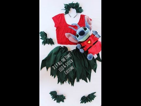 D.I.Y Allthe Time! LILO & Stitch Costume! No sew No glue - YouTube