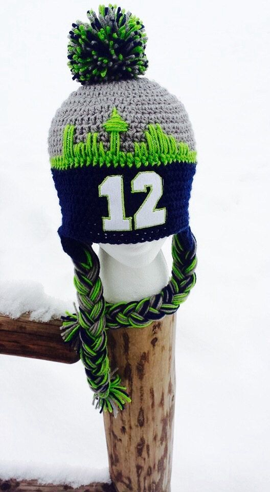 Seattle Seahawks Hat 12th man 12th woman Seattle by AtTheLilyPond