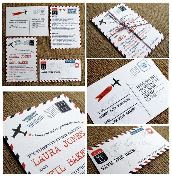 Airmail Wedding Travel theme
