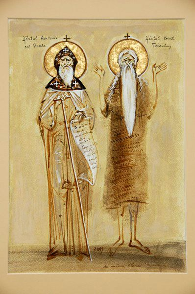 "Romanian ___ by Elena Murariu "" icons Saints"