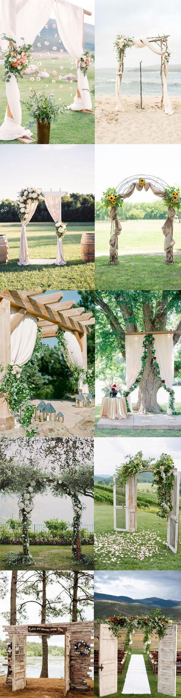 Творческие свадебные идеи церемонии алтари