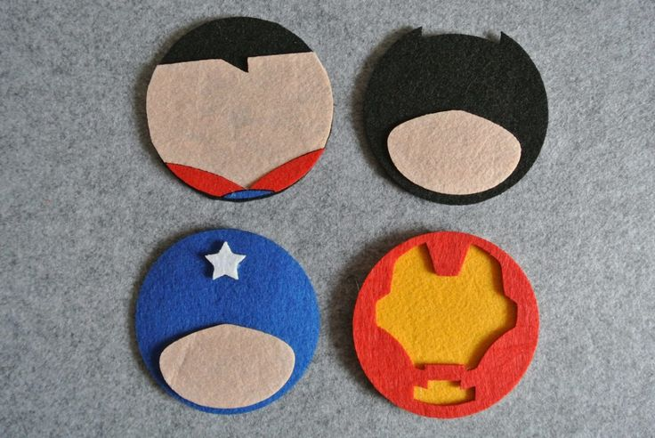 Aliexpress.com : Buy Freeshipping 8 pcs Cartoon Superhero Superman Batman Ironman Captain Amrican Felt Coaster Cup mats Cartoon Pad supply from Reliable coaster puzzle suppliers on Miss Ms' shop