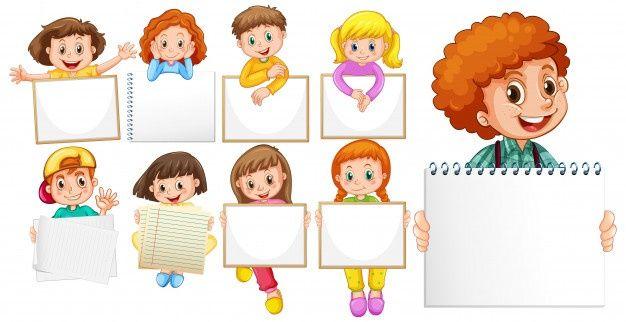 Blank Sign Template With Happy Children Free Vector Freepik Freevector Frame Children Girl Cartoon Happy Kids Photo Collage Template Blank Sign