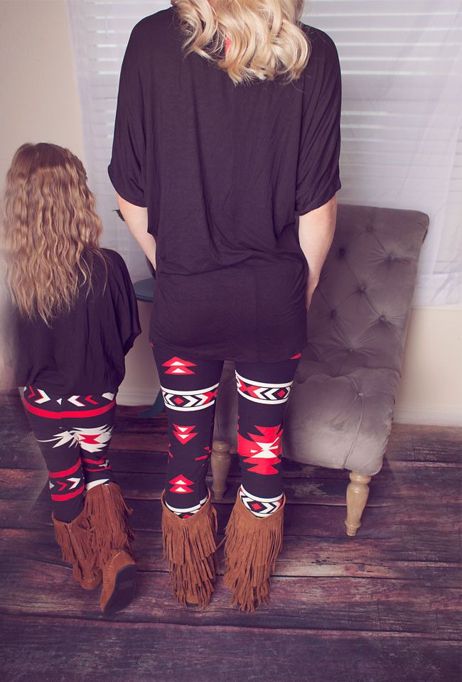 Mommy and me red arrow leggings - ADULT