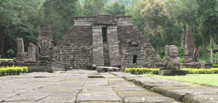 Mine  of temples Sukuh-shaped pyramid in Central Java